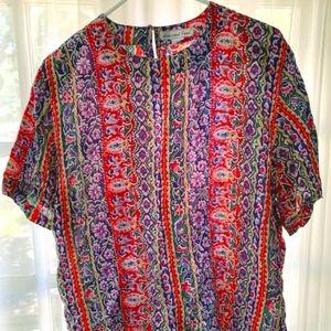 Anna & Frank Silk Shirt - Size L